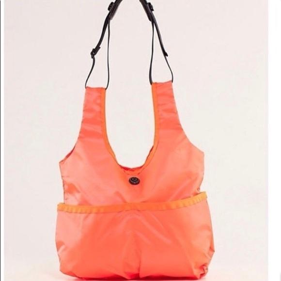Lululemon Savasana tote fluorescent orange